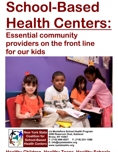School-Based Health Centers:Essential community providers on the front line for our kids